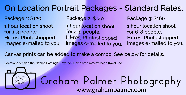 Portrait Location Pricing