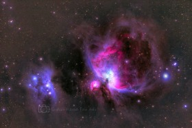 Orion and Running Man Nebulae 2016