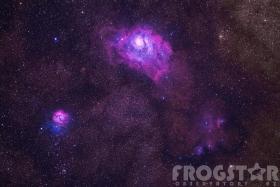 M8 & M20 in Hydrogen alpha & visible light 2021